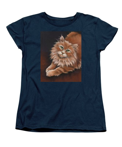 Women's T-Shirt (Standard Cut) featuring the drawing Thomas by Cynthia House