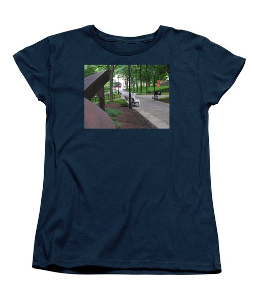 Thoughtful Women's T-Shirt (Standard Cut) by Jacqueline M Lewis