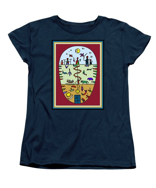 Women's T-Shirt (Standard Cut) featuring the digital art Three Layers Of Life by Vagabond Folk Art - Virginia Vivier