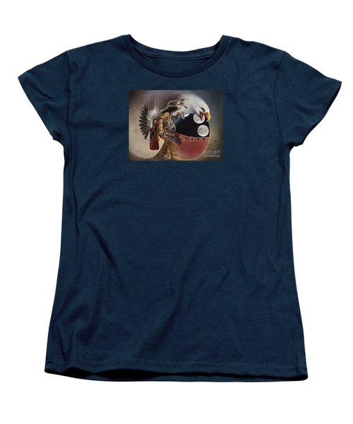 Three Moon Eagle Women's T-Shirt (Standard Cut)