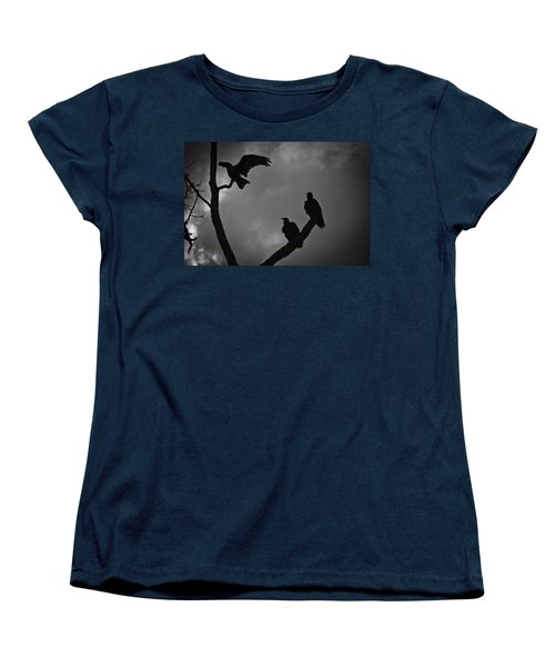 Women's T-Shirt (Standard Cut) featuring the photograph Three Vultures by Bradley R Youngberg