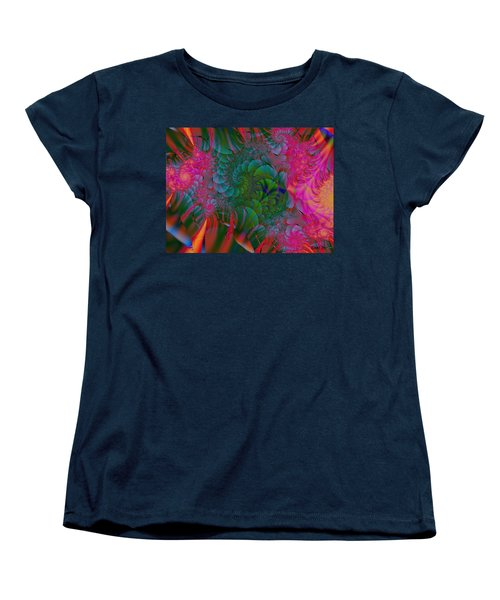 Women's T-Shirt (Standard Cut) featuring the digital art Through The Electric Garden by Elizabeth McTaggart