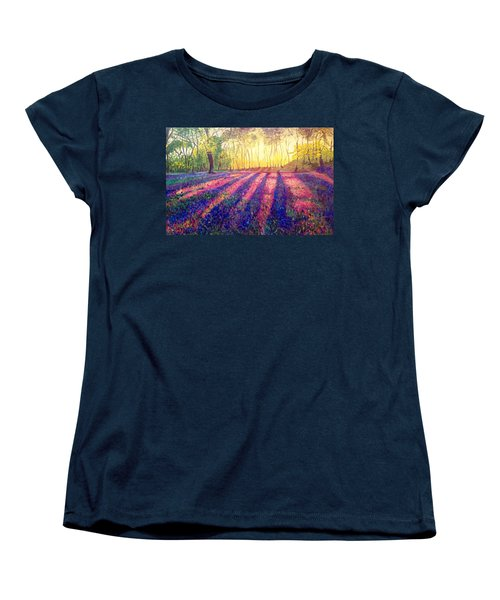 Women's T-Shirt (Standard Cut) featuring the painting Through The Light by Belinda Low