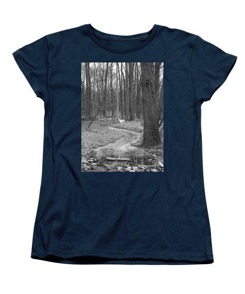 Through The Woods Women's T-Shirt (Standard Cut) by Sara  Raber