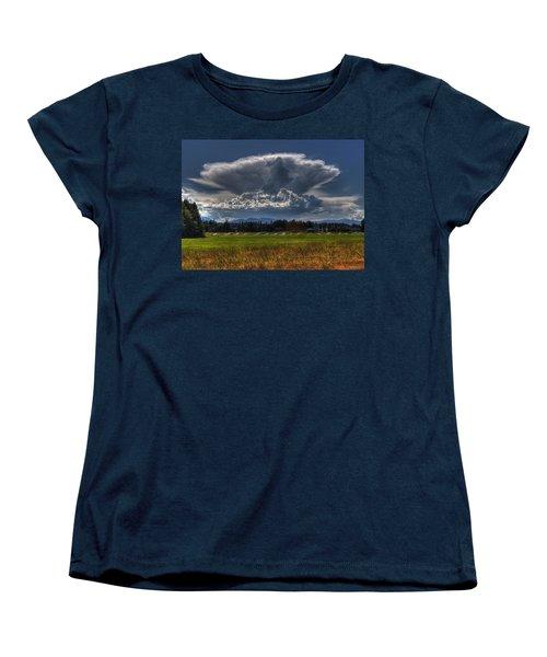 Thunder Storm Women's T-Shirt (Standard Cut) by Randy Hall