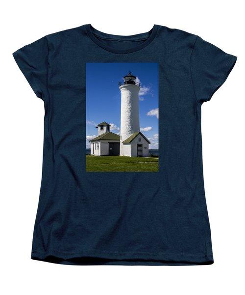 Tibbetts Point Lighthouse Women's T-Shirt (Standard Cut) by Ben and Raisa Gertsberg