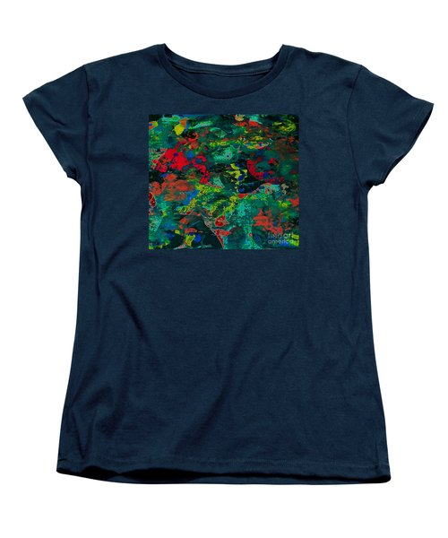 Women's T-Shirt (Standard Cut) featuring the painting Tide Pool by Jacqueline McReynolds