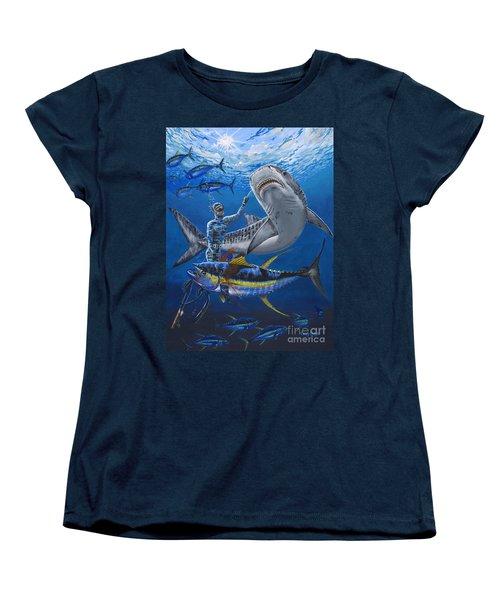 Tiger Encounter Women's T-Shirt (Standard Cut) by Carey Chen