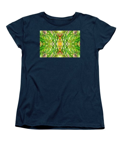 Tiki Idols In The Grass  Women's T-Shirt (Standard Cut) by Marianne Dow