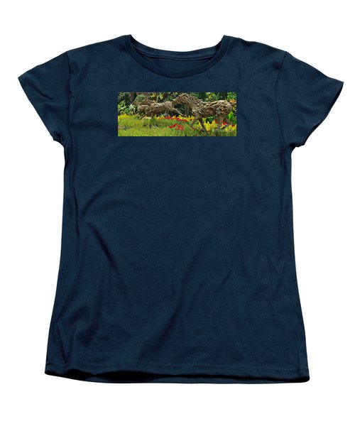 Time To Run Women's T-Shirt (Standard Cut) by Clare Bevan