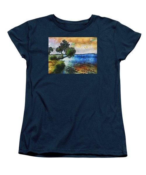 Time Well Spent - Medina Lake Women's T-Shirt (Standard Cut) by Wendy J St Christopher