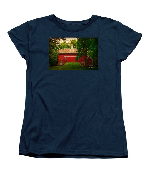 Tinicum Barn In Summer Women's T-Shirt (Standard Cut) by Debra Fedchin
