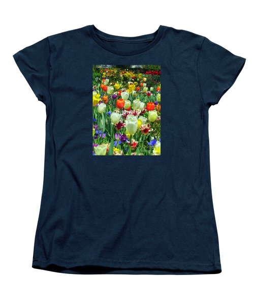 Tiptoe Through The Tulips Women's T-Shirt (Standard Cut) by Elizabeth Dow