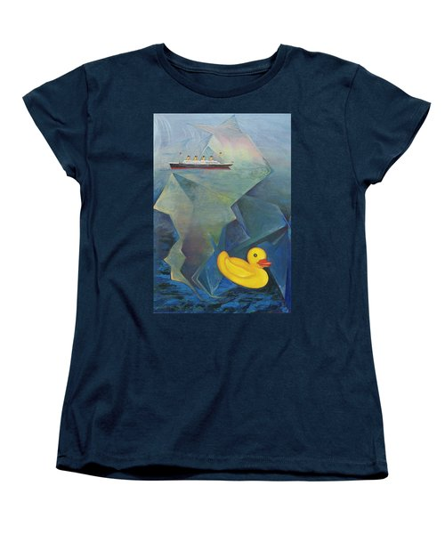 Titanic And The Ducky Women's T-Shirt (Standard Cut)