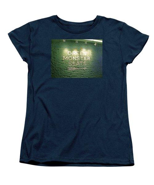 Women's T-Shirt (Standard Cut) featuring the photograph To The Green Monster Seats by Barbara McDevitt
