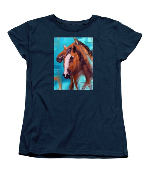 Women's T-Shirt (Standard Cut) featuring the painting Together 1 by Go Van Kampen
