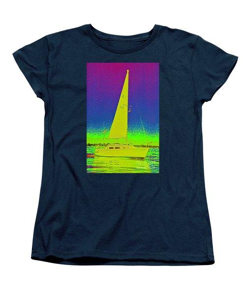 Tom Ray's Sailboat Women's T-Shirt (Standard Cut) by First Star Art