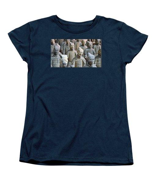 Women's T-Shirt (Standard Cut) featuring the photograph Tomb Warriors by Robert Meanor
