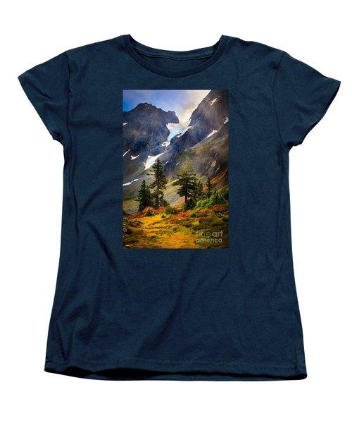 Top Of Cascade Pass Women's T-Shirt (Standard Cut) by Inge Johnsson