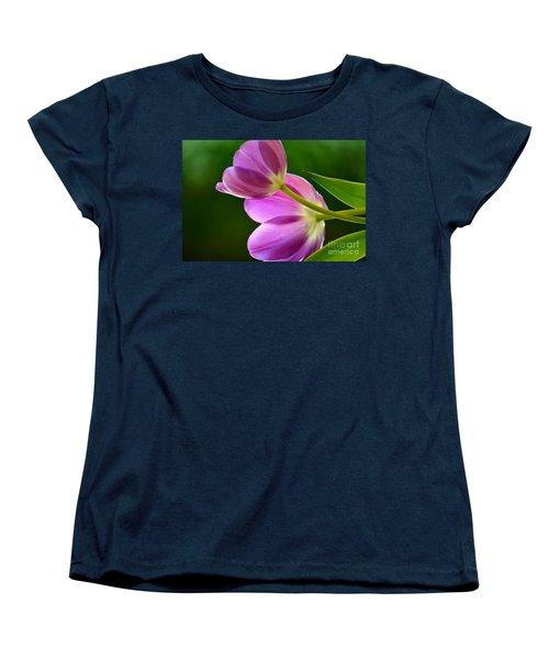Topsy-turvy Tulips Women's T-Shirt (Standard Cut) by Deb Halloran