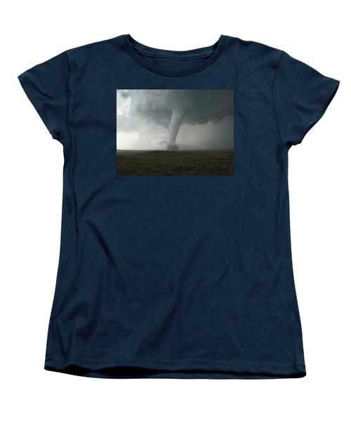 Tornado In The High Plains Women's T-Shirt (Standard Cut) by Ed Sweeney