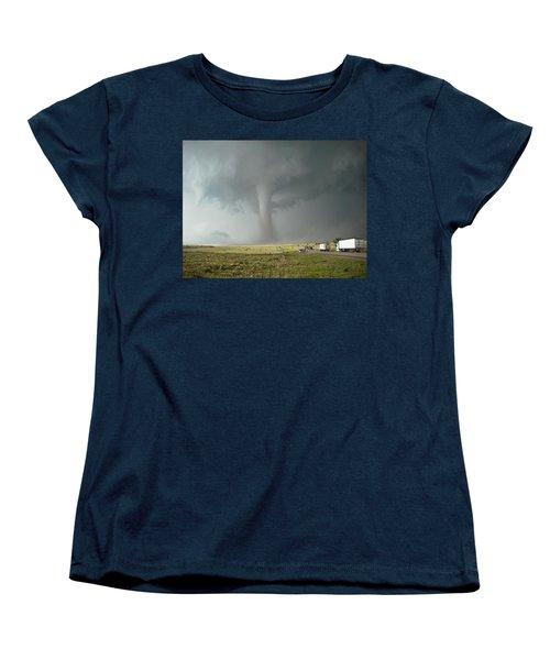 Women's T-Shirt (Standard Cut) featuring the photograph Tornado Truck Stop by Ed Sweeney