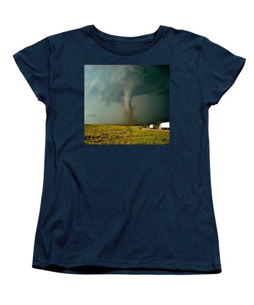 Tornado Truck Stop II Women's T-Shirt (Standard Cut) by Ed Sweeney