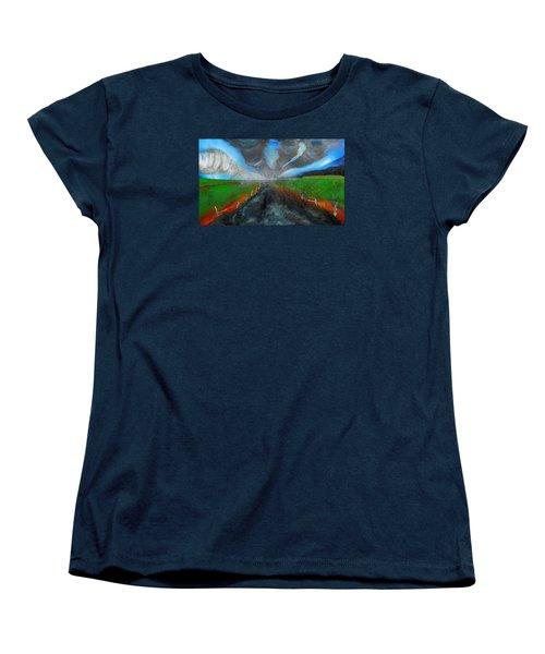 Tornadoes Women's T-Shirt (Standard Cut) by Raymond Perez