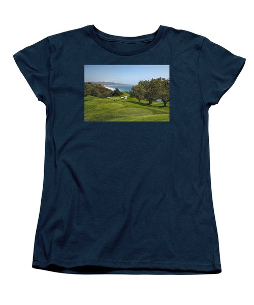 Torrey Pines Golf Course North 6th Hole Women's T-Shirt (Standard Cut) by Adam Romanowicz