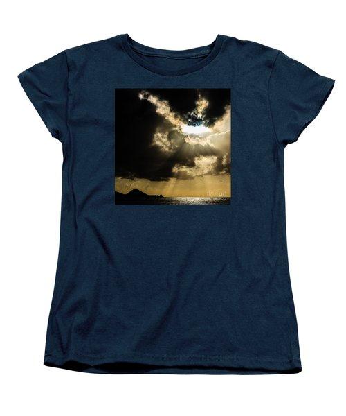 Total Solar Eclipse Breakthrough Women's T-Shirt (Standard Cut) by Peta Thames