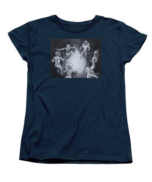 Totem Dancers - Channeling The Spirits Women's T-Shirt (Standard Cut) by Samantha Geernaert