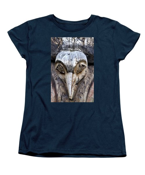 Totem Face Women's T-Shirt (Standard Cut) by Cathy Mahnke