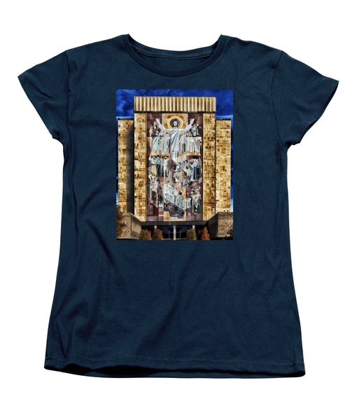 Touchdown Jesus Women's T-Shirt (Standard Cut) by Mountain Dreams