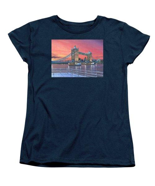 Tower Bridge After The Snow Women's T-Shirt (Standard Cut) by Richard Harpum