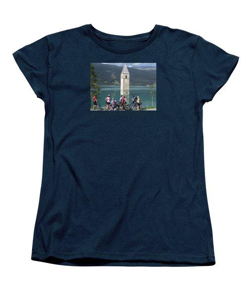 Tower In The Lake Women's T-Shirt (Standard Cut)