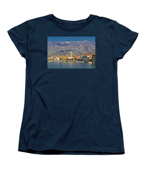 Town Of Vinjerac Waterfrot View Women's T-Shirt (Standard Cut) by Brch Photography