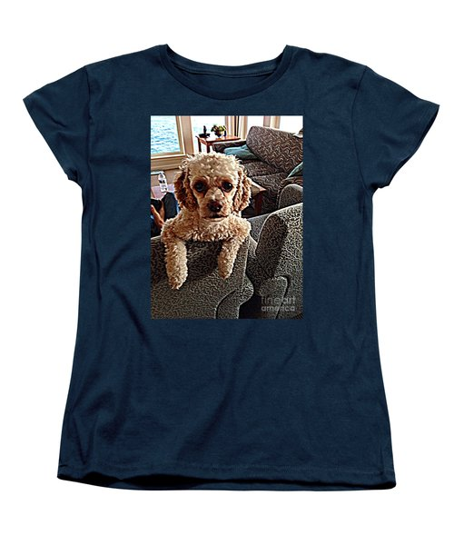 Toy Cockapoodle 1 Women's T-Shirt (Standard Cut) by Richard W Linford