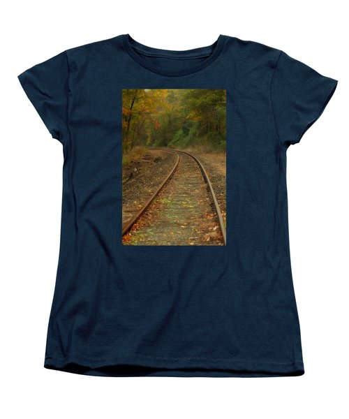 Tracking Thru The Woods Women's T-Shirt (Standard Cut) by Karol Livote