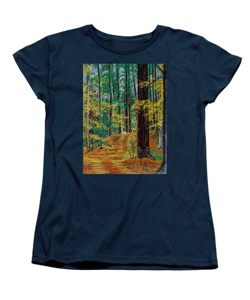 Trail At Wason Pond Women's T-Shirt (Standard Cut) by Sean Connolly