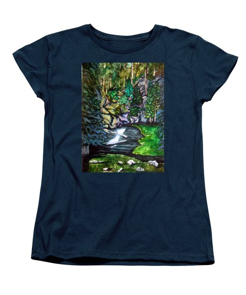 Trail To Broke-off Women's T-Shirt (Standard Cut) by Lil Taylor