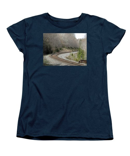 Train It Coming Around The Bend Women's T-Shirt (Standard Cut) by Brenda Brown