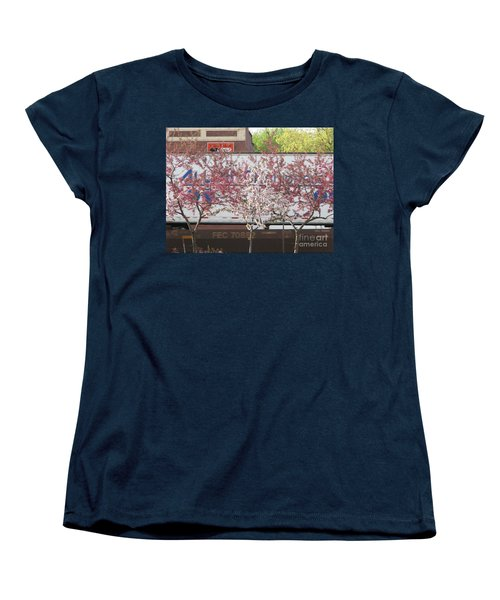 Women's T-Shirt (Standard Cut) featuring the photograph Train Tracks by Michael Krek