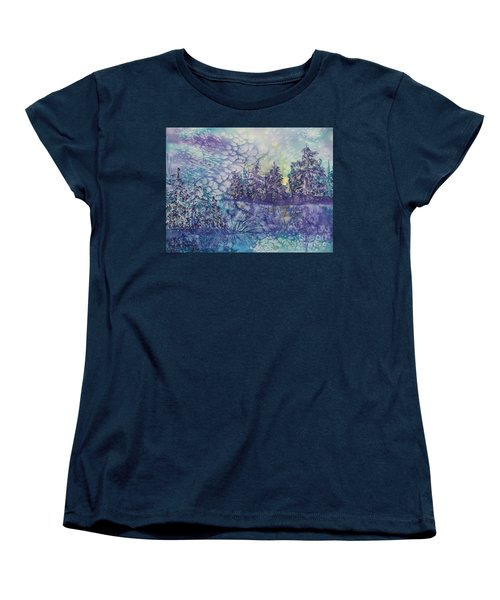 Women's T-Shirt (Standard Cut) featuring the painting Tranquility by Ellen Levinson