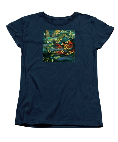 Women's T-Shirt (Standard Cut) featuring the painting Transforming... by Xueling Zou