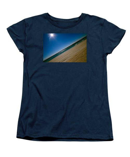 Women's T-Shirt (Standard Cut) featuring the photograph Treads In The Sand by DigiArt Diaries by Vicky B Fuller