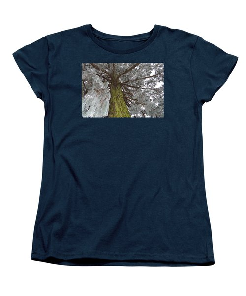 Women's T-Shirt (Standard Cut) featuring the photograph Tree In Winter by Felicia Tica