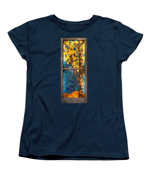 Tree Inside A Window Women's T-Shirt (Standard Cut)