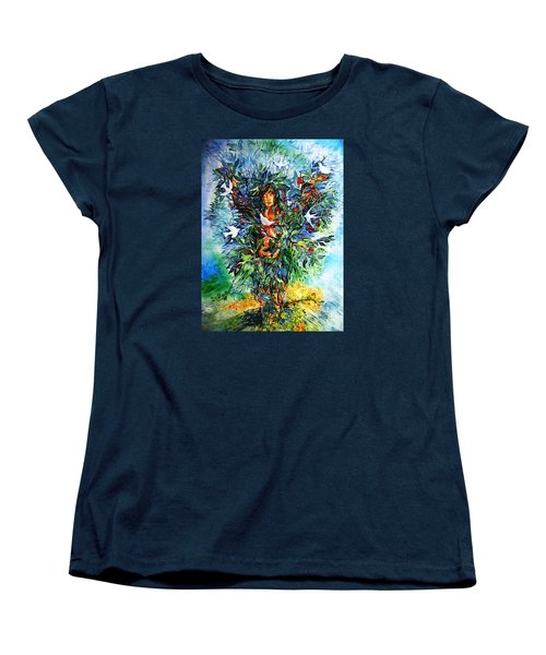 Women's T-Shirt (Standard Cut) featuring the painting Tree Of Life  by Trudi Doyle