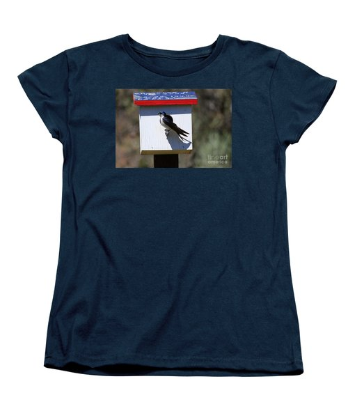 Tree Swallow Home Women's T-Shirt (Standard Cut) by Mike  Dawson