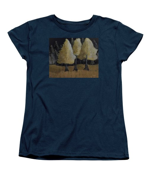 Tree Trio Women's T-Shirt (Standard Cut) by Dick Bourgault